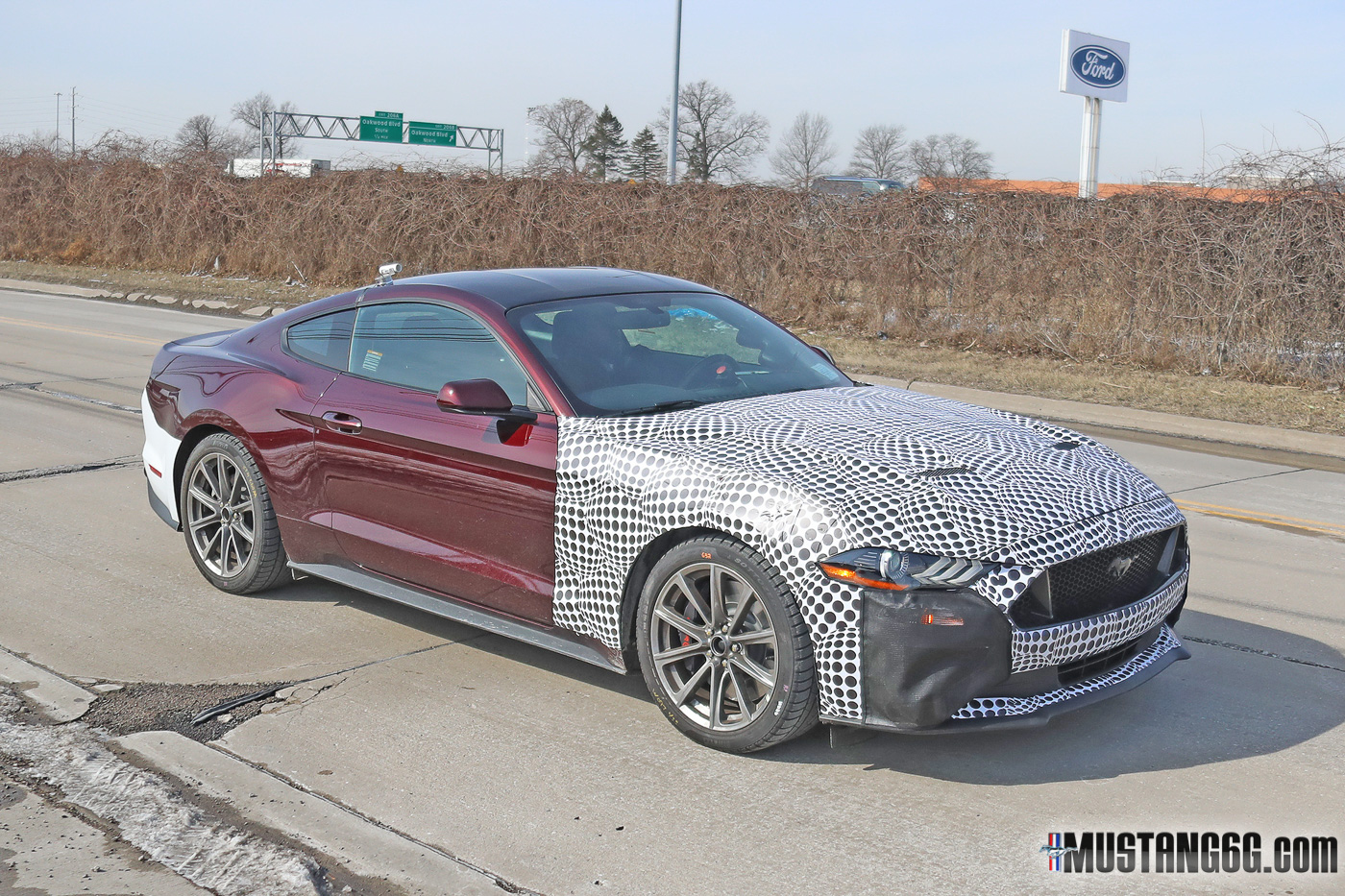 Camouflaged Mustang Prototype Spied: Possible Refresh or ...