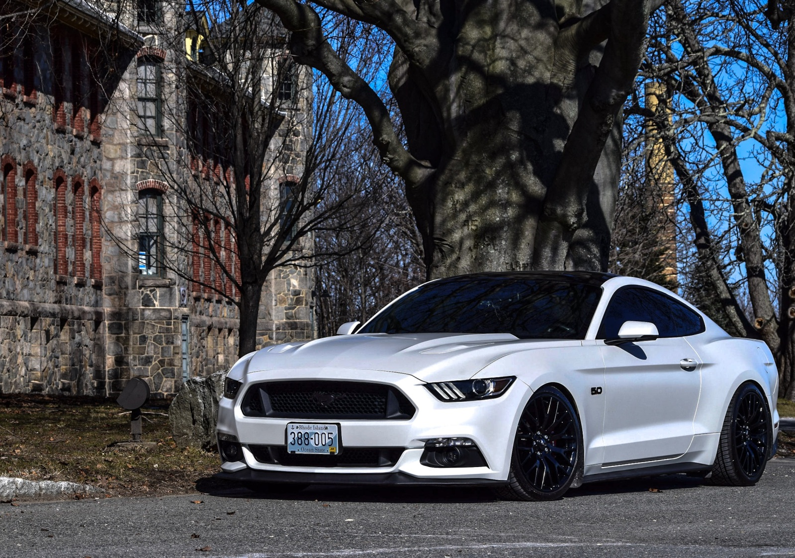 Satin Pearl White Full Wrap 2015 S550 Mustang Forum