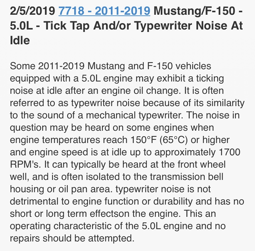 Per Ford (officially) the 2011-2019 F150/Mustang 5 0