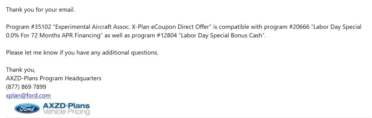 Ford X Plan Pricing >> Illegal To Sell Under X Plan Price Eaa Rebate Not Allowed