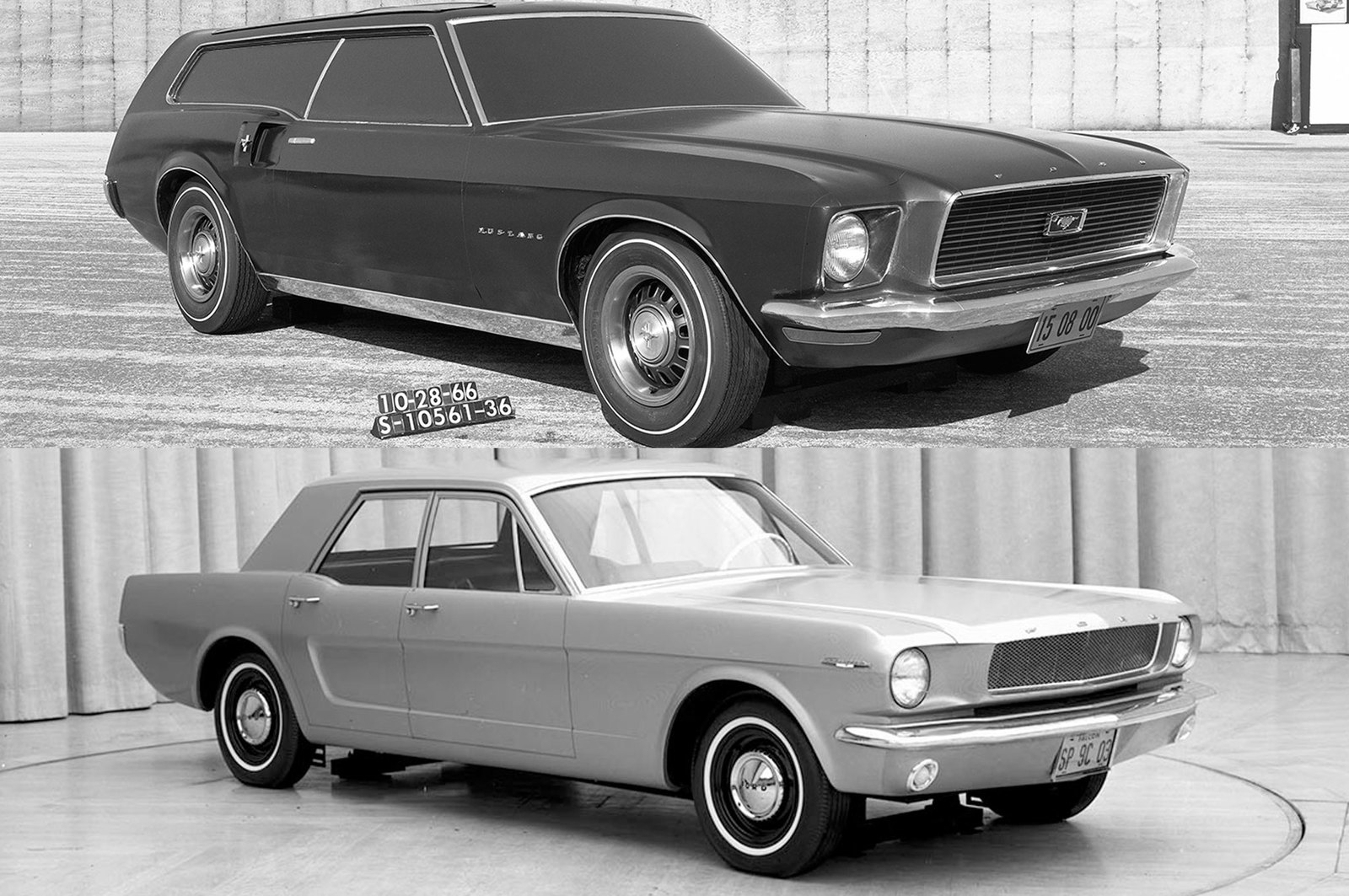 Ford mustang four door and wagon design studies