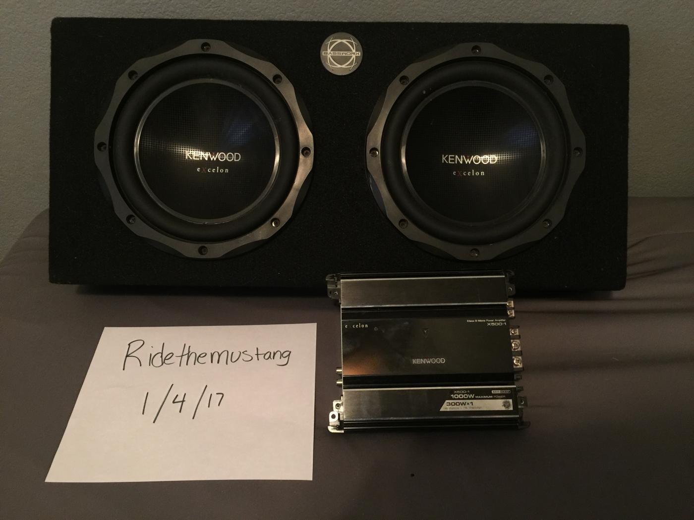 FS: Kenwood excelon subs/amp and bassworx box (Huge Price