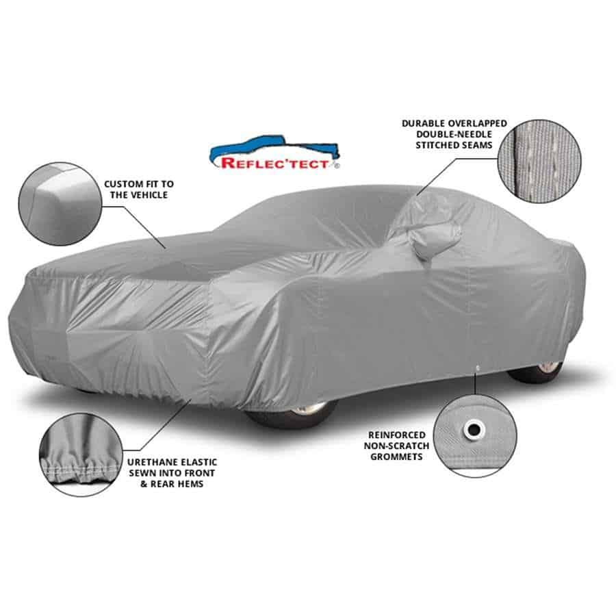 Covercraft Custom Fit Car Cover for Select Ford Mustang Models Fleeced Satin FS16623F5 Black