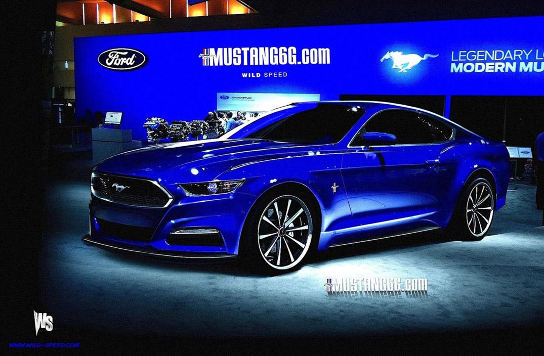 2015 Mustang Render (Blue) - Mustang6G