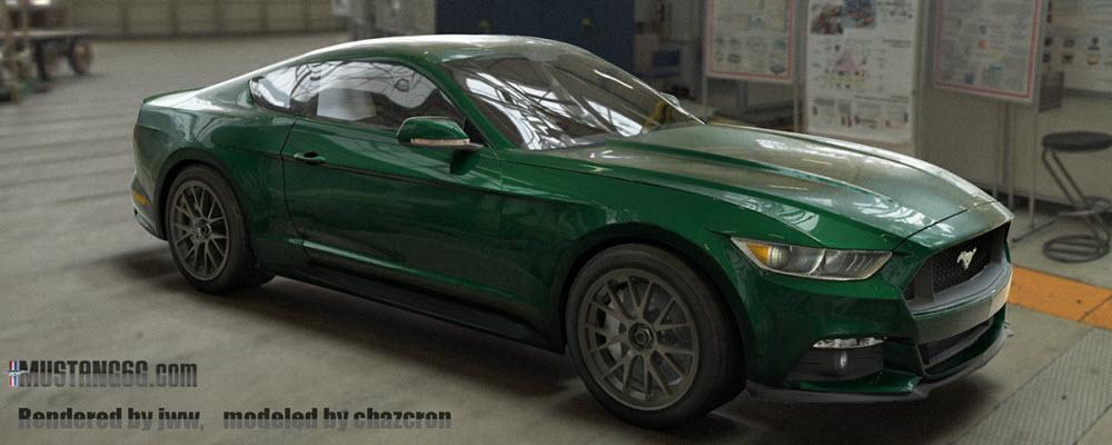 2015 Mustang DHG 3D Render