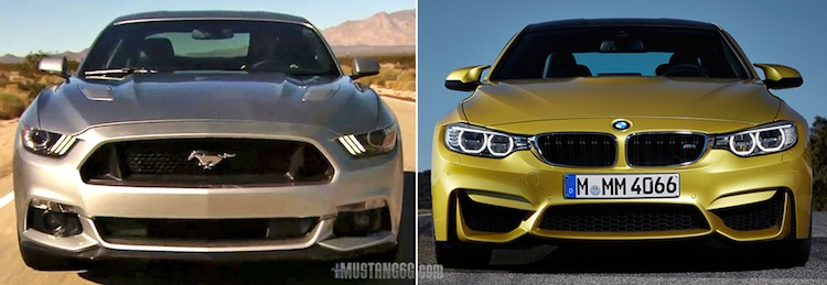 2015 Mustang Gt Versus 2015 Bmw M4 Comparison 2015