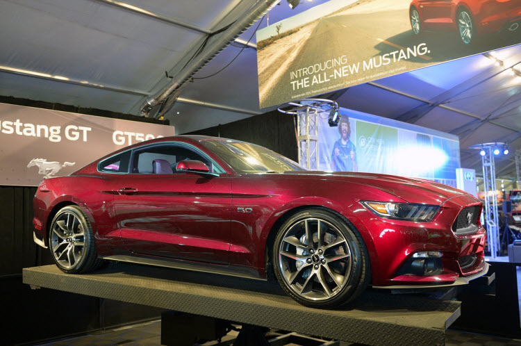 Ruby Red 2015 Mustang Render