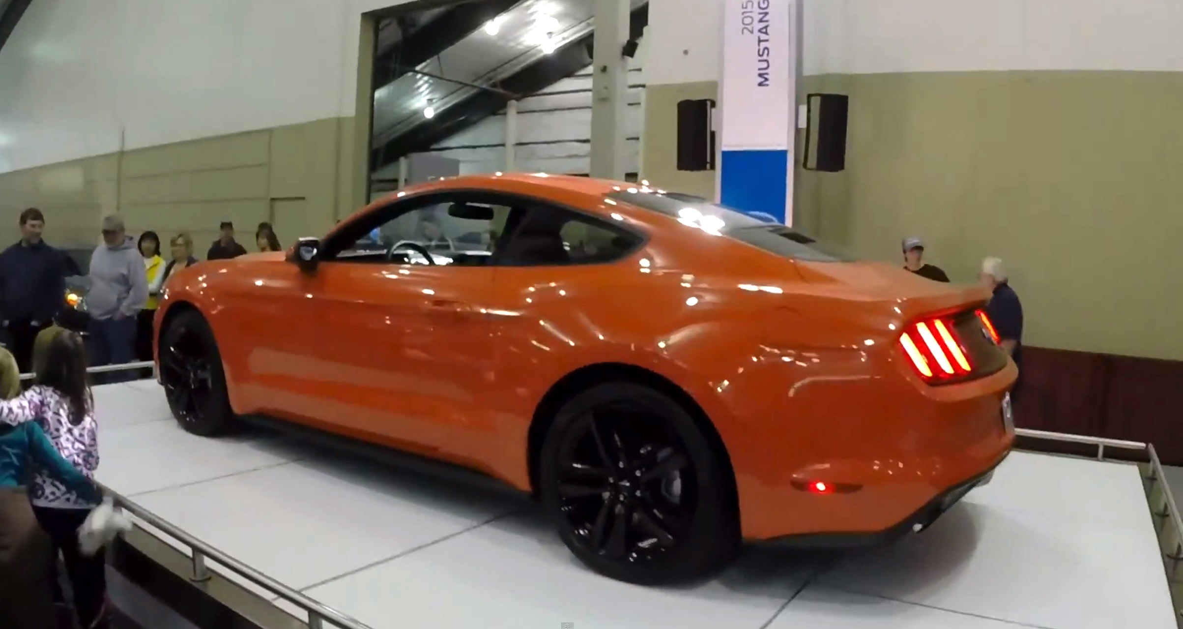 Orange 2015 Mustang >> Video Competition Orange 2015 Mustang At The Spokane Auto Show