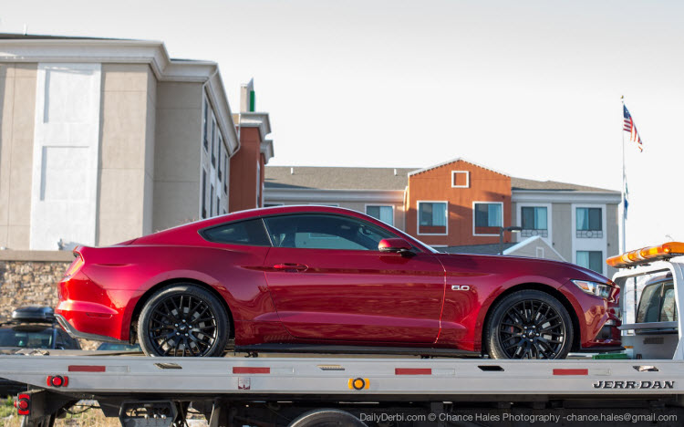 2016 Mustang V6 Exhaust >> Ruby Red 2015 Mustang Spotted in Utah! | 2015+ Mustang Forum News Blog (S550 GT, GT350, GT500 ...