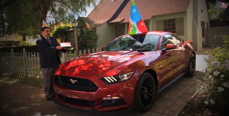 Ruby Red Mustang Jimmy Kimmel Live