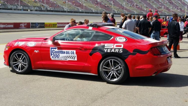 Riding in the 2015 Ford Mustang Pace Car [Video] | 2015 ...