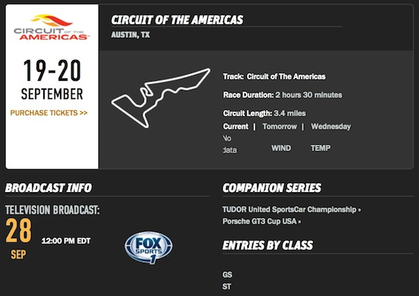Circuit of the Americas September 19-20, 2014