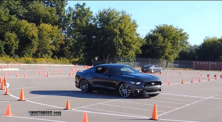 S550 Mustangs V6 I4 Gt Autocross Testing 2015