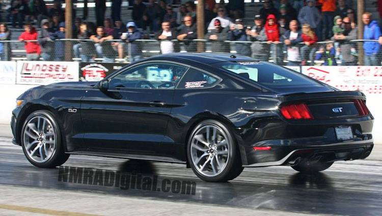 Stock 2015 Mustang GT Auto Runs 12 86 107 MPH in its