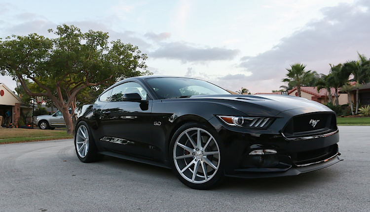 Vossen Vfs1 Silver Brushed Wheels On 2015 Mustang