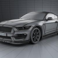 2016 Shelby GT350R Mustang 3D Model