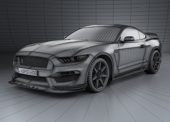 2016 Mustang V6 Exhaust >> 2016 Shelby GT350R Mustang 3D Model | 2015+ Mustang Forum News Blog (S550 GT, GT350, GT500, I4 ...