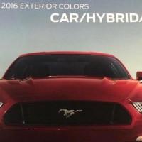 2016 Mustang Colors