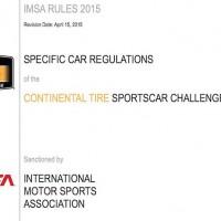 GT350R-C Mustang IMSA Rules 2015
