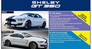2016 Shelby GT350 Mustang Packages Sheet