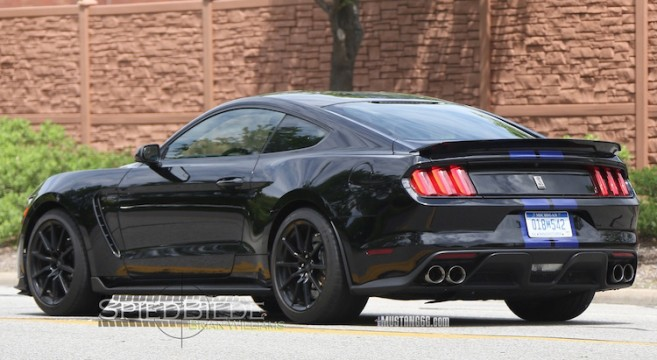 2015 Mustang Stripes >> Black GT350 Mustang Out in the Wild | 2015+ Mustang Forum News Blog (S550 GT, GT350, GT500, I4 ...