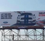 Shelby GT350R Mustang Billboard Ad