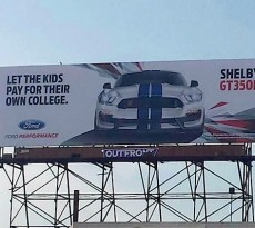 Shelby GT350R Mustang Billboard Ad