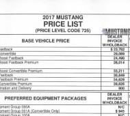 New Mustang Forum Mustang Forum News Blog S GT GT - Mustang invoice price