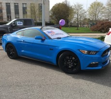 Grabber Blue 2017 Mustang GT Black Accent Package