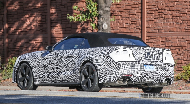 Spied 2018 Mustang Prototype With Active Quad Exhaust
