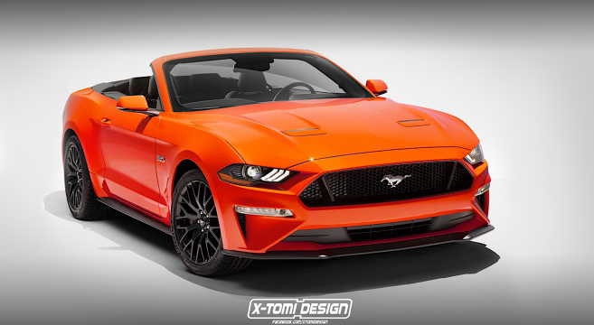 2018 Mustang Gt Convertible Rendered 2017 Forum News Blog S550 Gt350 Gt500 I4 V6 Mustang6g The Ultimate 6th Generation