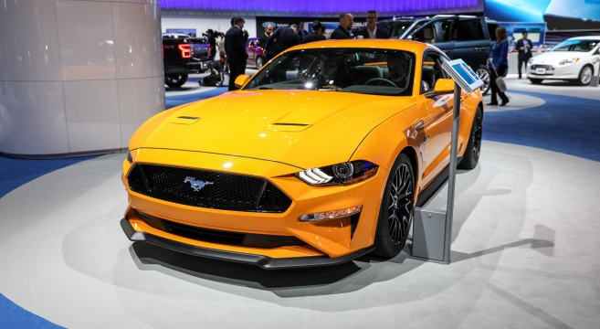 Orange Fury 2018 Mustang Gt At The 2017 Nyias 2015