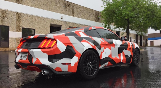 Camo-Wrapped S550 Mustang | 2015+ Mustang Forum News Blog ...