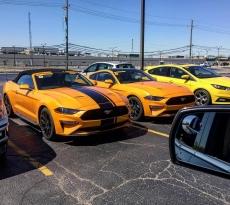 Orange Fury 2018 Mustang