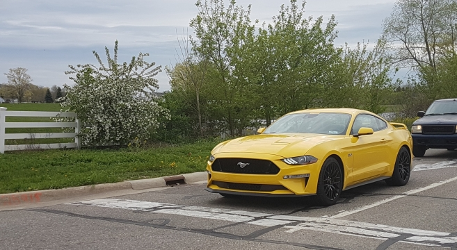 Spotted: Triple Yellow 2018 Mustang GT | 2015+ Mustang Forum News Blog (S550 GT, GT350, GT500 ...