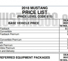 Mustang Build Price Live Shows For EcoBoost - 2018 mustang invoice price