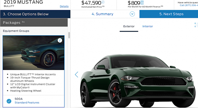 2019 Mustang Configurator Is Live 2015 Mustang Forum News Blog