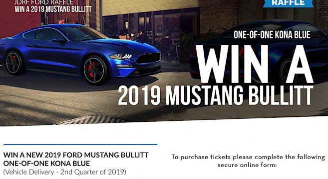 Kona Blue 2019 Mustang Bullitt Auction For Charity 2015